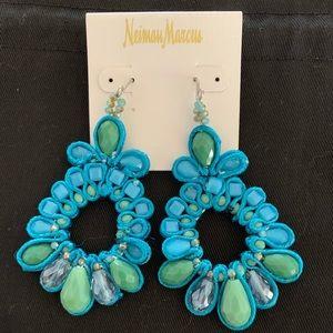 Neiman Marcus Turquoise Hanging Earrings